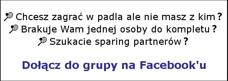przejdź na stronę grupa miłosników padla na portalu facebook