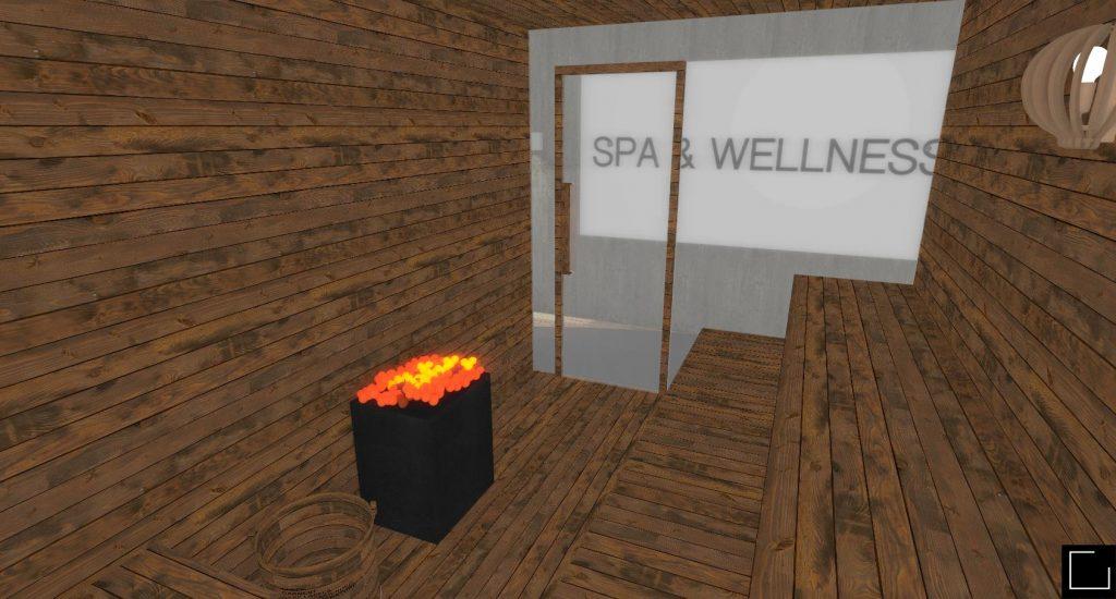 Projekt strefy SPA & Wellness.
